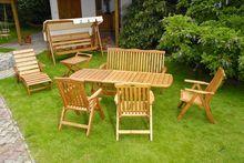 Stół i krzesła ogrodowe z drewna