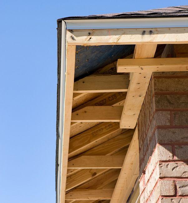 Dach przed montażem podbitki