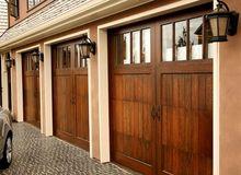 Drewniane drzwi garażowe