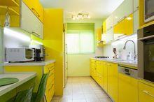 Kuchnia nowoczesna na żółto
