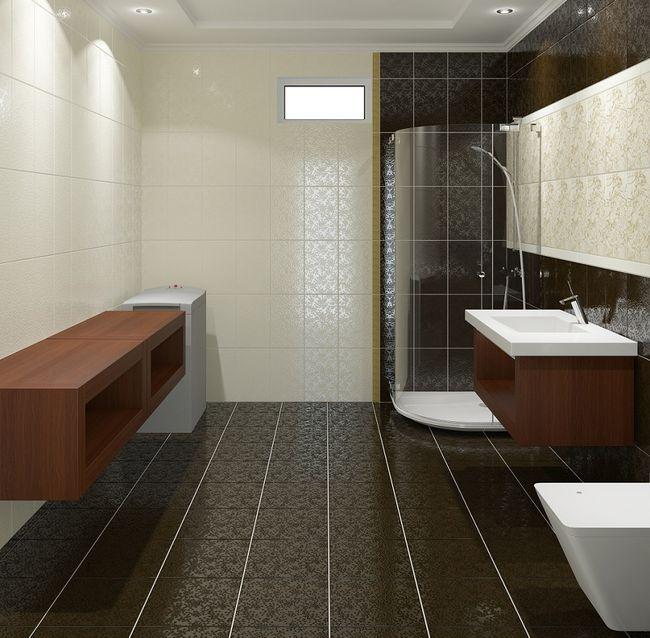 Łazienka z ciekawymi płytkami