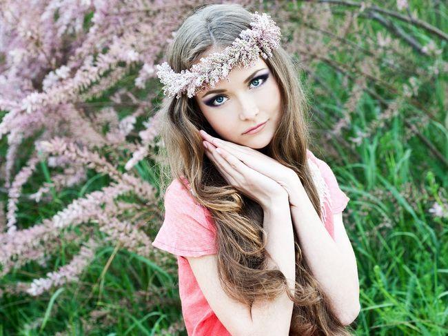 Wieniec kwiatowy w tamaryszka