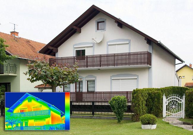 Dom w termowizji