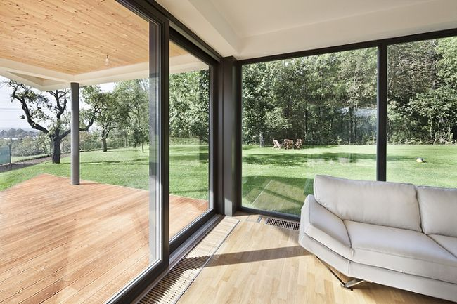 Duże okna tarasowe