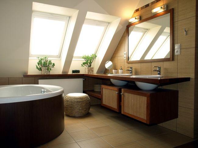 Okna połaciowe w łazience