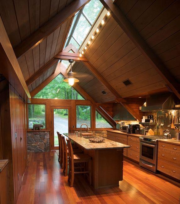 Świetlik dachowy w kuchni