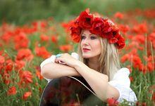 Wieniec kwiatowy z maków polnych