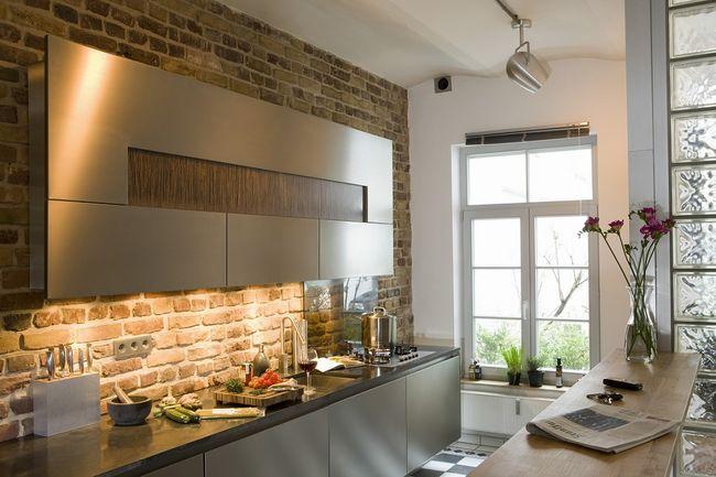 Imitacja cegły w kuchni