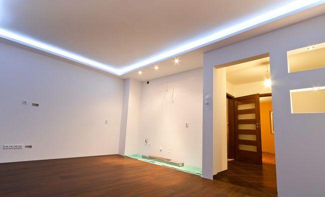 Podświetlenie sufitu podwieszanego