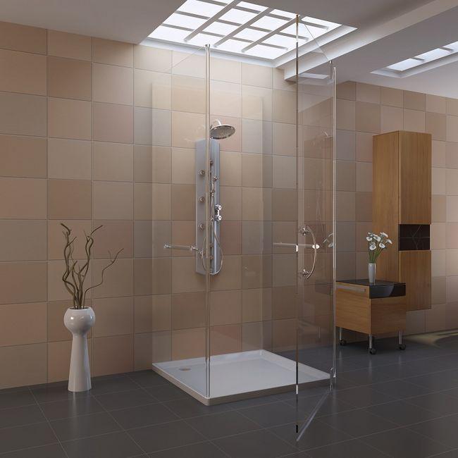 Kabiny prysznicowa - trójścienna