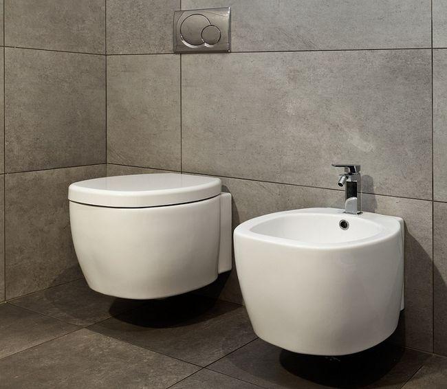 Nowoczesny bidet w łazience