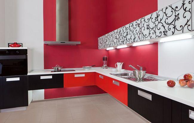 Ciekawie pomalowania kuchnia