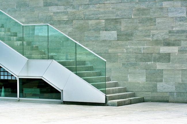Balustrada schodowa ze szkła