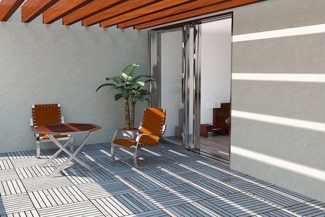Optymalne p ytki tarasowe i balkonowe - Balkon holzfliesen ...