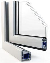 Przekrój okna trójszybowego