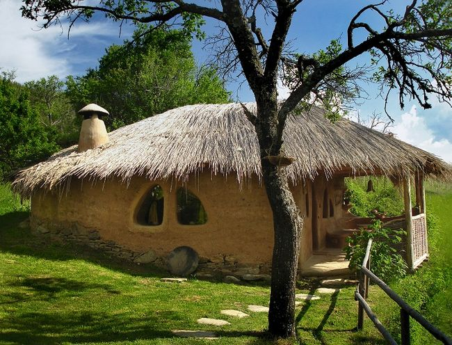 Rekreacyjny dom z gliny