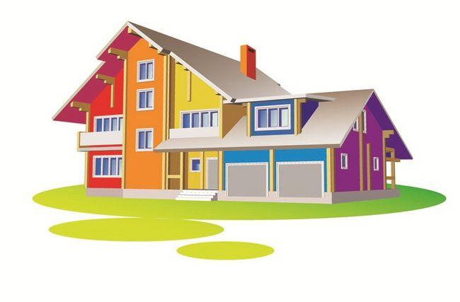 Kolorowa elewacja domu
