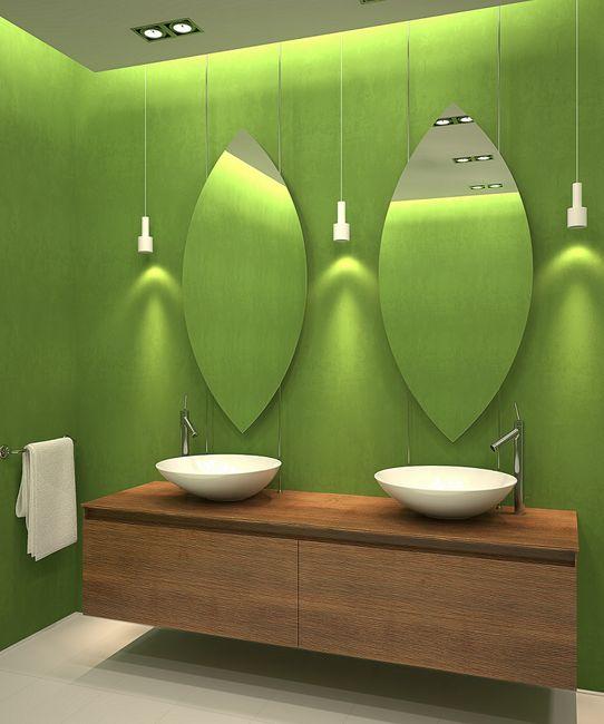 Jak wybra lustro azienkowe for Salle de bain vert kaki