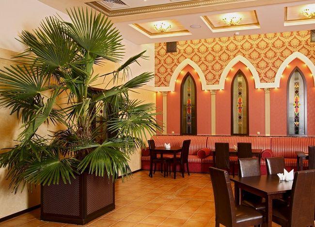 Palma w restauracji