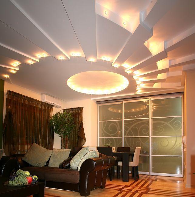 Oświetlenie W Suficie Podwieszanym Kreatywne Iluminacje