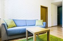Imitacja białej cegły na ścianie