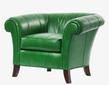 Fotel do salonu - skórzany