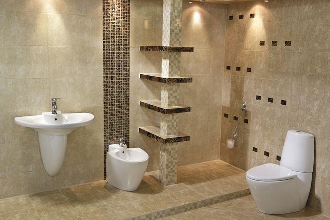 Łazienka z dopasowaną muszlą do umywalki