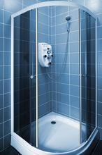 Półokrągła kabina prysznicowa - narożna
