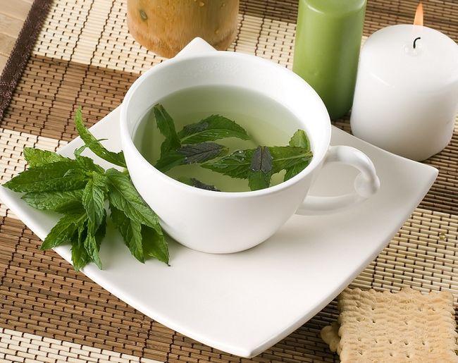 Herbatka z miętą