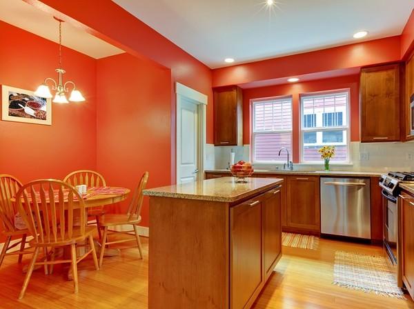 Kolory ścian w kuchni  klasyka czy odrobina szaleństwa? -> Kuchnia W Bloku Kolory Ścian