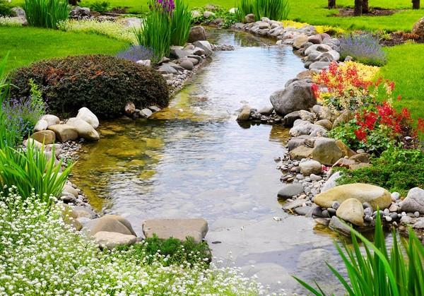 Kaskady i strumienie wodne w ogrodzie praktyczne informacje for Artificial pond in garden